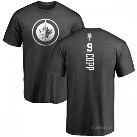 Men's Andrew Copp Winnipeg Jets One Color Backer T-Shirt - Charcoal