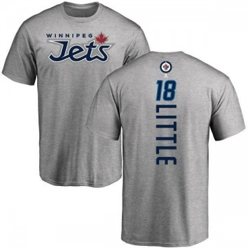 Men's Bryan Little Winnipeg Jets Backer T-Shirt - Ash