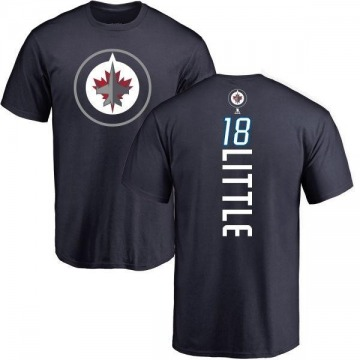 Men's Bryan Little Winnipeg Jets Backer T-Shirt - Navy