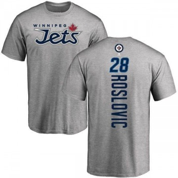 Men's Jack Roslovic Winnipeg Jets Backer T-Shirt - Ash