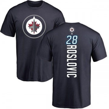 Men's Jack Roslovic Winnipeg Jets Backer T-Shirt - Navy