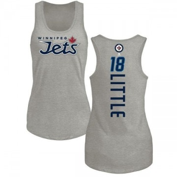 Women's Bryan Little Winnipeg Jets Backer Tri-Blend Tank Top - Ash